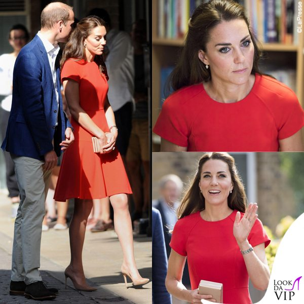 Kate-Middleton-abito-e-clutch-LK-Bennett-pump-Gianvito-Rossi-orecchini-Kiki-McDonough
